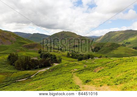 Martindale Valley Lake District Cumbria England uk photographed from Hallin Fell near to Ullswater
