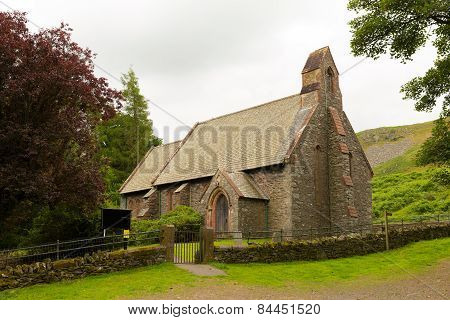 St Peters Church Martindale Valley Cumbria England UK near Pooley Bridge
