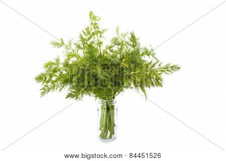 Bunch Of Dill Isolated On White Background