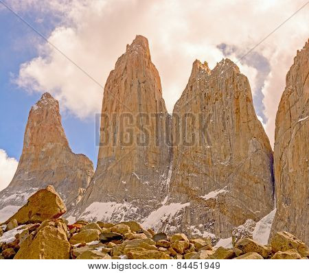 Dramatic Spires Into The Clouds