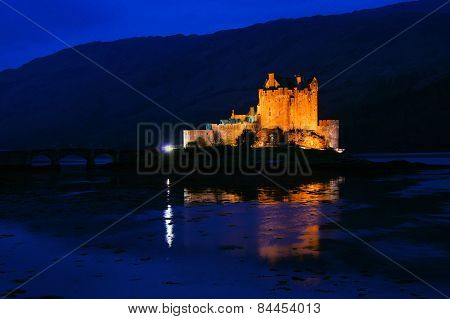 Eilean Donan Castle at night, Scotland