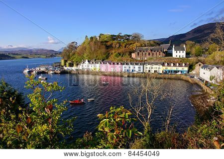 View of Portree, Isle Of Skye, Scotland