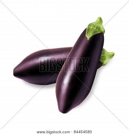 Two fresh eggplant