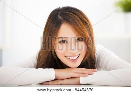 Beautiful Young Smiling Asian Woman