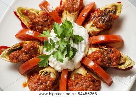 Traditional Turkish food - doner kebab
