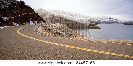 Boise Basin Snake River Canyon Cold Frozen Snow Winter Landscape