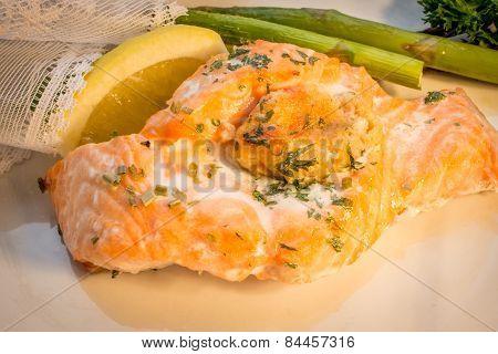 Stuffed Salmon Steak