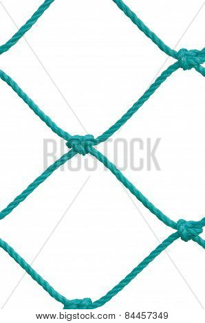 Soccer Football Goal Post Set Net Rope Detail, New Green Goalnet Netting Ropes Knots Pattern