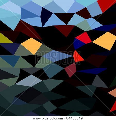River Flowing Abstract Low Polygon Background