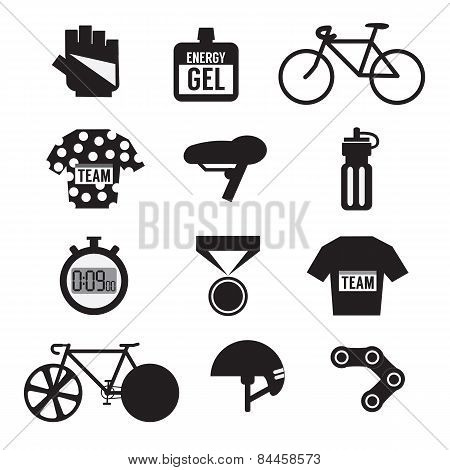 Set Of Bicycle And Accessories.