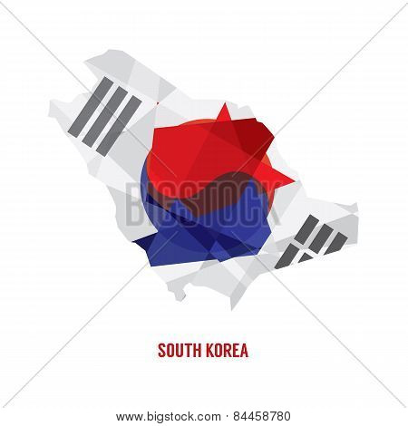 Map Of South Korea.