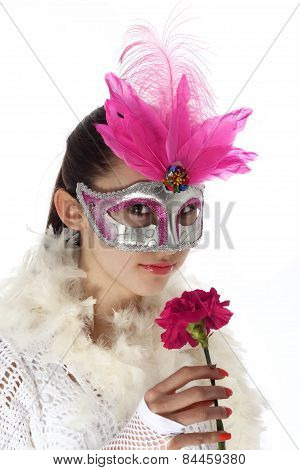 Young girl masquerade