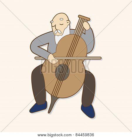 Musicians Theme Elements Vector,eps