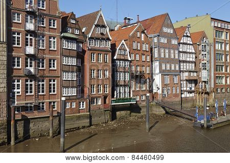 Hamburg - Old Houses At The Nicolai Fleet