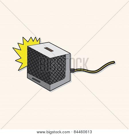 Rock Music Loudspeaker Theme Elements Vector,eps