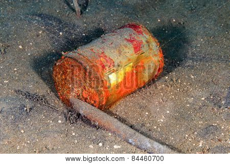 Discarded Can On The Seabed