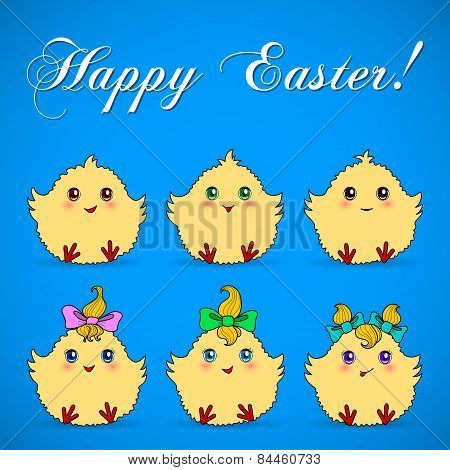 Cute Easter Chickens
