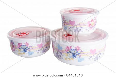 Food Containers. Containers. Food Containers On The Background.