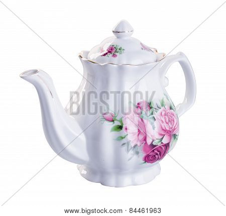 Teapot. Teapot On Background