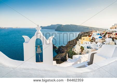 Bell Tower In Oia Town