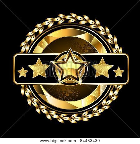 Emblem With Golden Stars