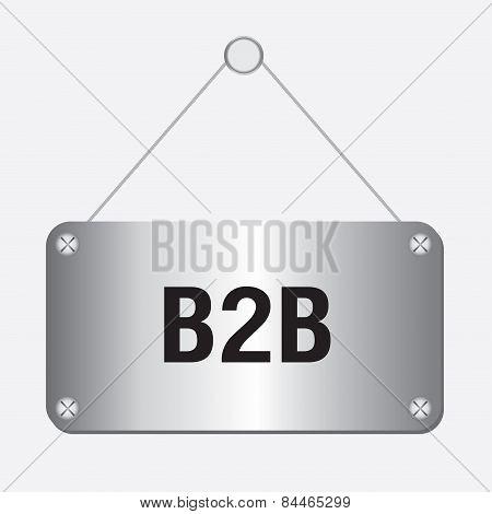 silver metallic B2B