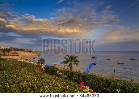 Sharm El-sheikh. Egypt. Picturesque Views Of The Beach And The Sea.