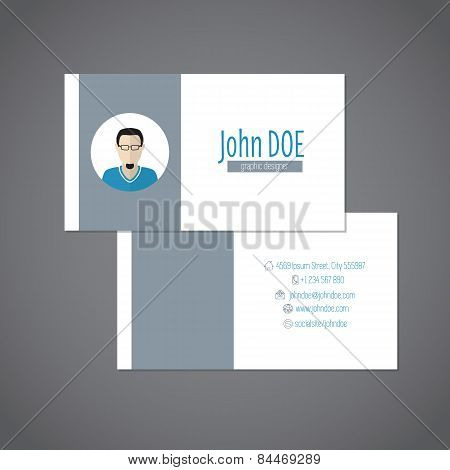 Simplistic Business Card With Photo