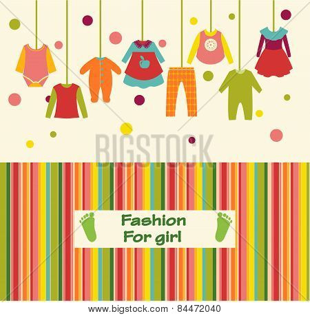 Clothes Collection For Girl Fashion Background