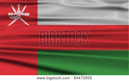 Flag Of Oman With Old Texture. Vector