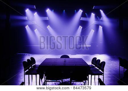 Big Light Setup Ready For A Private Show