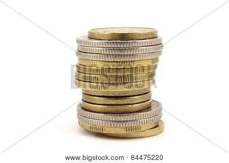Uneven Column Of Coins