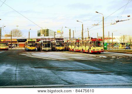 Vilnius City Trolley Buss In Zirmunai District Nord City