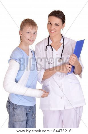 Doctor and young boy