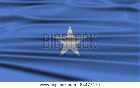 Flag Of Somalia With Old Texture. Vector