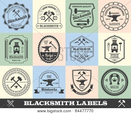 Blacksmith Label Set