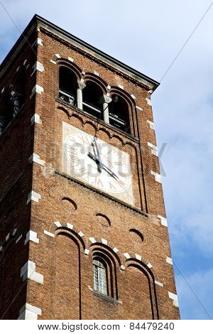 Legnano Old   Church Tower Bell Sunny Day