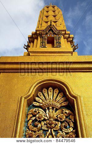 Thailand Bangkok Abstract Cross Metal Gold In The
