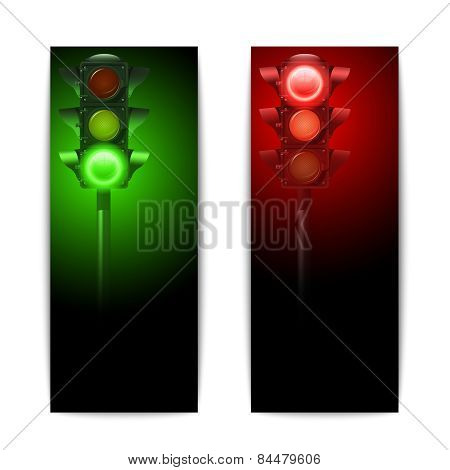 Traffic Lights Banners