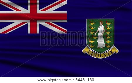 Flag Of Virgin Islands Uk With Old Texture. Vector