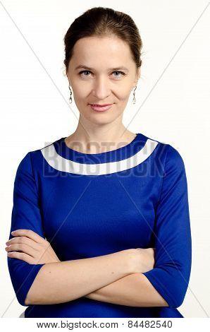 Confident woman portrait . Crossed arms