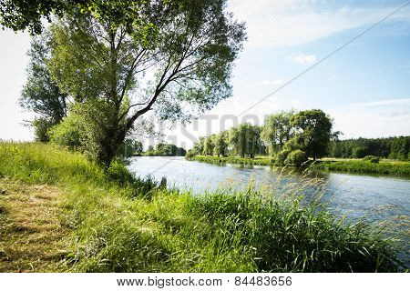 River beautiful landscape