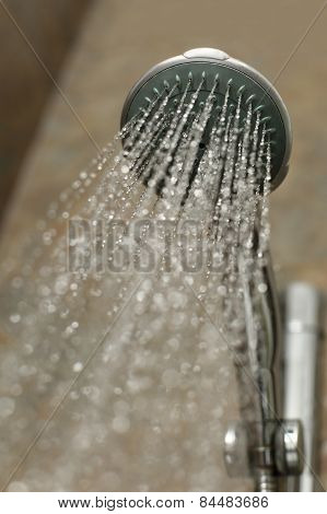Shower Head Flowing Water