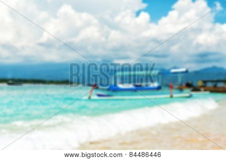 Natural blur background Tropical paradise