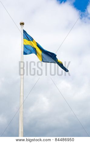 Swedish flag blue with yellow cross