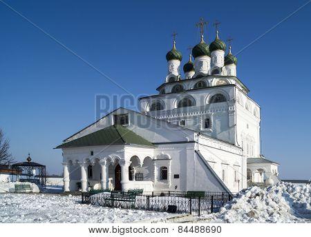Bogoyavlenskiy Cathedral In Male Priory In City Mstyora(1687-1688)