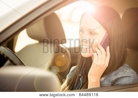 Calling phone while driving car