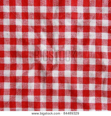 Red Linen Crumpled background.