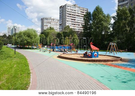 Playground And Residential Buildings