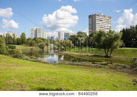Chermyanka River In Moscow